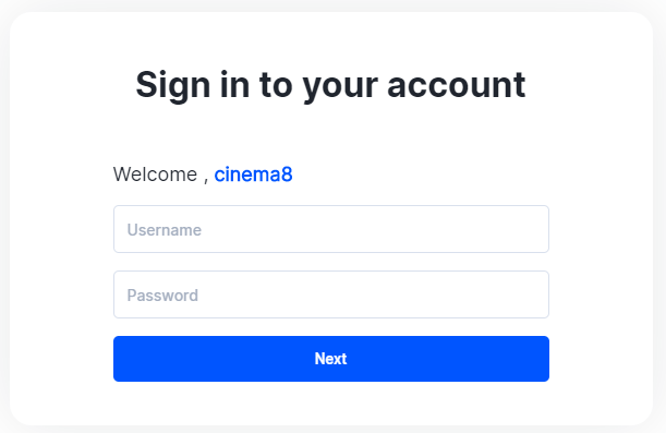 Cinema8 Password Management and Security 3