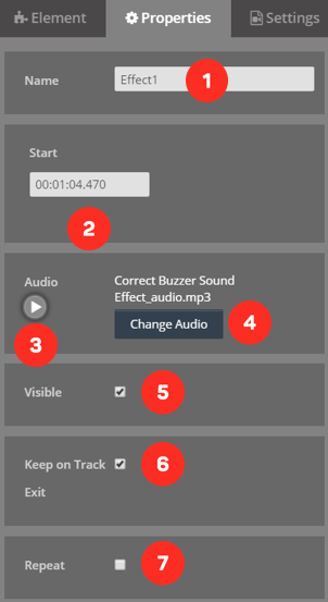 Cinema8 Articles - Interactive Video, How to use Audio Element 4