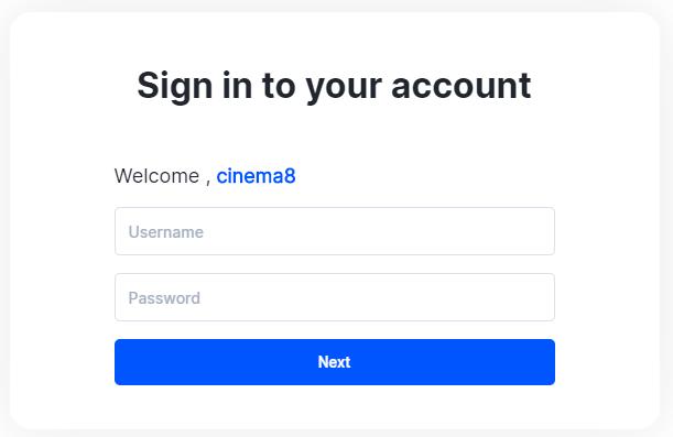 Cinema8 Managing Your Cinema8 Account 3