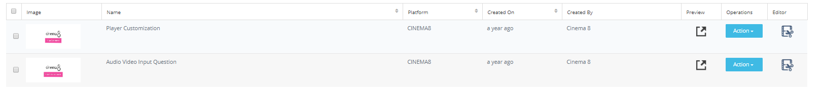 Cinema8 Publish with Native Project URL 4