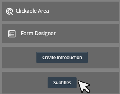 Cinema8 Articles - Interactive Video, Managing Subtitles in your Interactive Project 1
