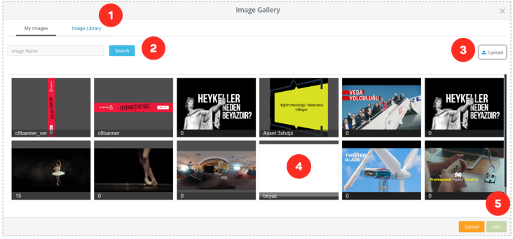Articles - Interactive Video, Image Element in Cinema8 Creative Studio 2
