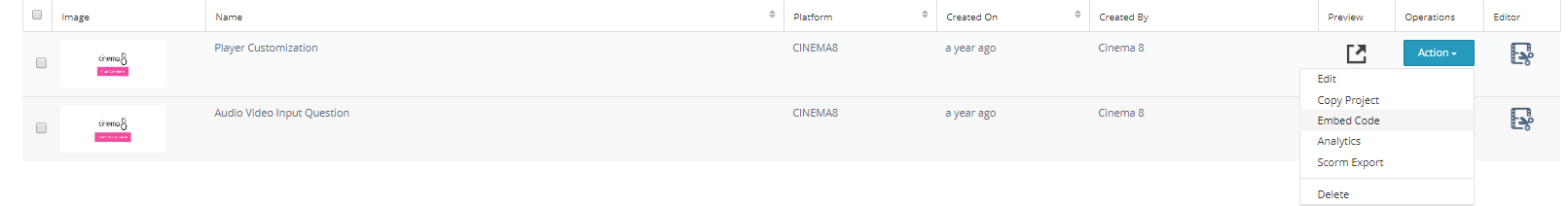 Cinema8 Responsive iFrame Embeds 2