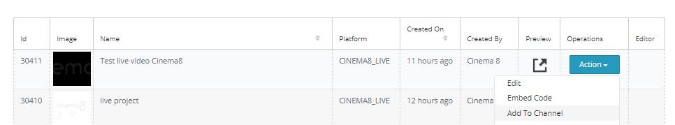 Cinema8 Articles - Publishing Live Videos 5