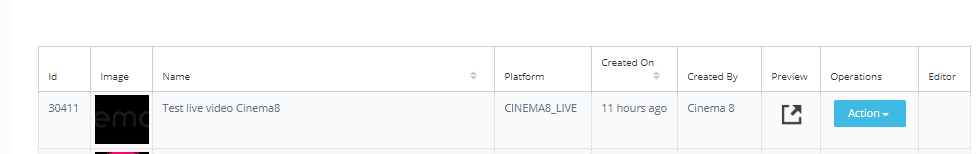 Cinema8 Articles - Publishing Live Videos 1