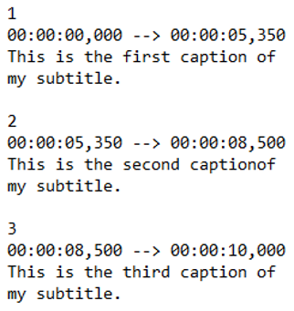 How to create SRT file - cinema8