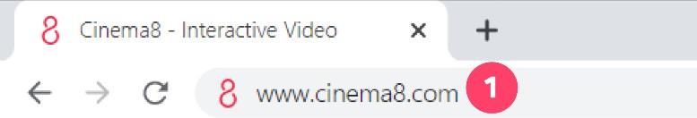 Login to Cinema8 Creative Studio 1