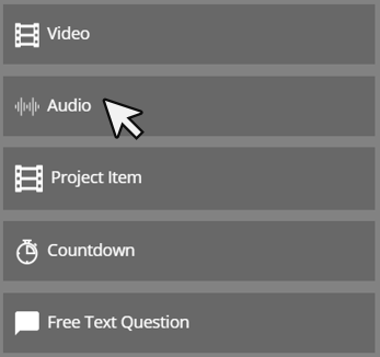 Cinema8 Articles - Interactive Video, How to use Audio Element 1