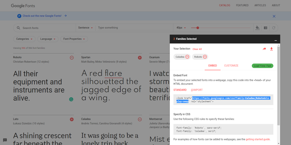 Cinema8 Articles - How to use Google Fonts in Interactive Videos 1